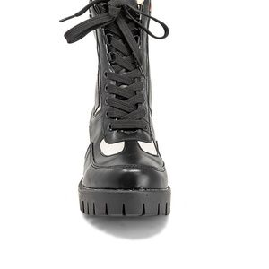 Chase + Chloe Shoes - Women's Lace Up Multi-color Ankle Combat Boots